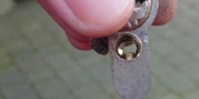 Schließzylinder durchgebohrt mit sichtbaren Stift