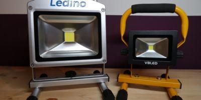 LED Baustrahler Test