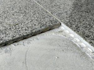 Wasserschaden - Fliesen ausschneiden bzw. brechen