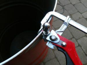 Bessey Hebelzwingen Ugly Drum Fire Plate