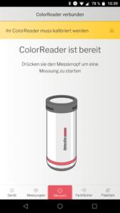 Datacolor ColorReader App Verbinden