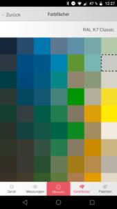 Datacolor ColorReader App Farbfächer